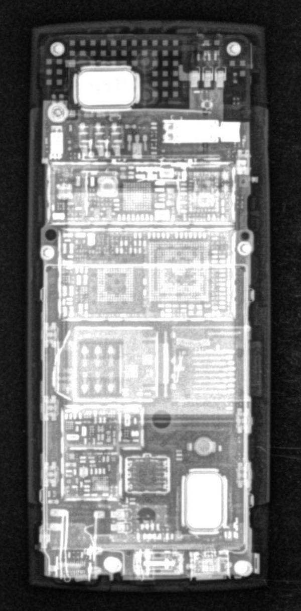 Ренгентовский снимок смартфона