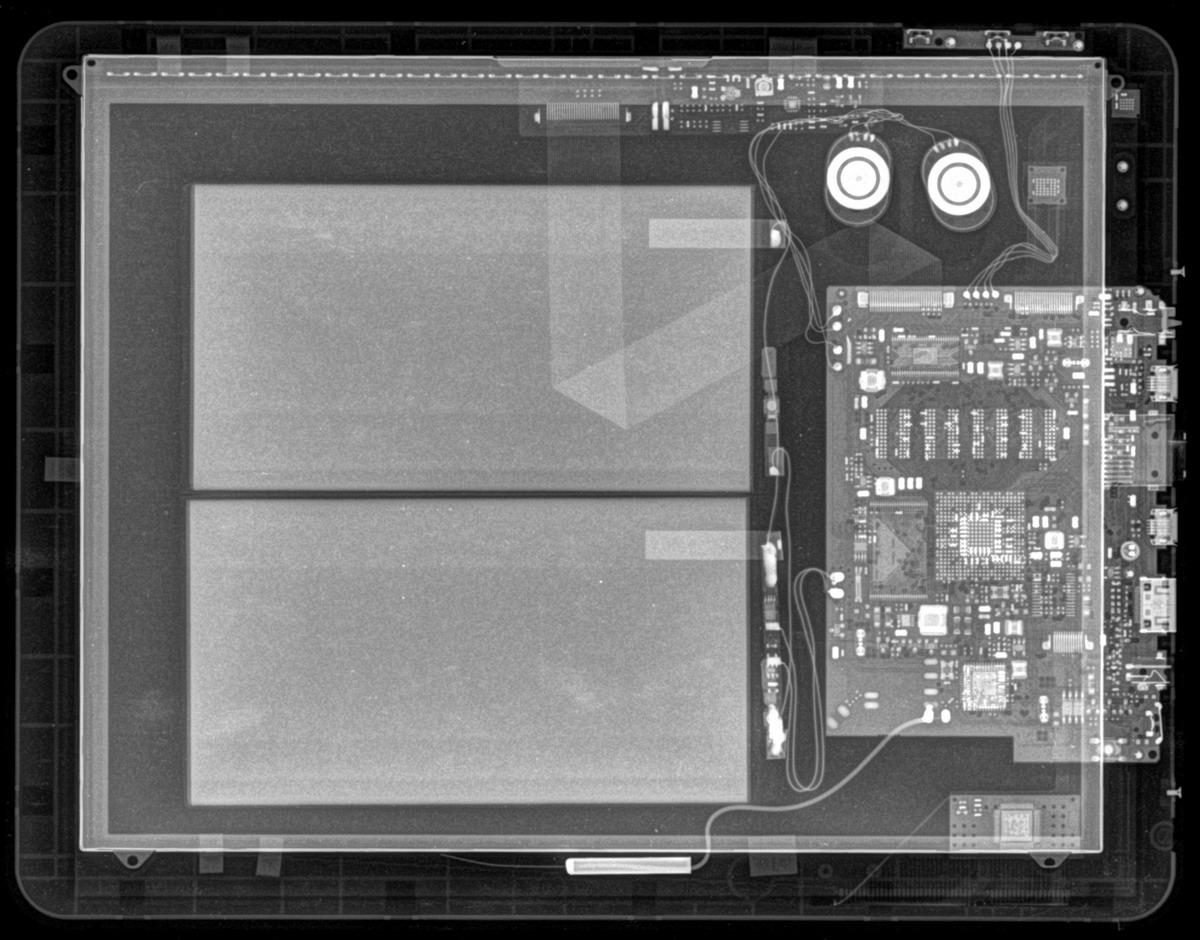 Ренгентовский снимок планшета 10 дюймов